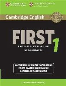 Bild von Cambridge English First 1 authentic examination papers with answers