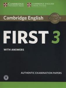 Bild von Cambridge English First 3 Student's Book with Answers with Audio